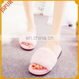 Women Custom Rex Rabbit Fur Flip Flop Luxury Slipper