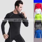 Exercise quick-drying training men long sleeve T-shirt sports gym workout clothes