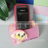 handmade custom rubber mobile phone holder,soft pvc foldable cellphone holder for desk