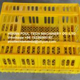 Good Orange Plastic PE Material Broiler Chicken Carriage Cage & Broiler Transport Cage for Poultry Farming