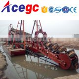 Dredging depth1-20m Bucket gold dredger dredge machine for sale