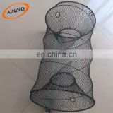 Galvanized Spring Folding crab trap lobster trap cage 25*45 cm