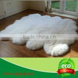 Flower design sheep wool carpet