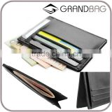 Good Quantity Genuine Leather Ultrathin Men Small Credit Card Holder Short RFID Wallet for Man