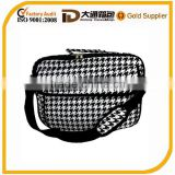 Lovely delicate lattice pattern one-shoulder nylon laptop bag with compartment and PBT bandage