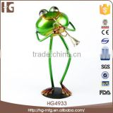 Modern metal craft frog statue garden ornament garden sculptures for decoration 13x11x26 CMH