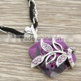 Amethyst necklace,Fashion alloy necklace,Diamod necklace
