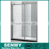 China factory competitive price portable Italian adjustable aluminum frame bifold door shower screen with double rollers