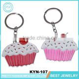 New Promotional Gifts Cup Cake Zinc Alloy Keychain Key Finder