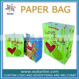 2014 Factory direct sale Cheapest love peace joy gift christmas shopping bags