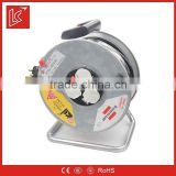 Thermal overload protection 50M 16A retractable ethernet cable reel 3G1.5mm2 3 way socket
