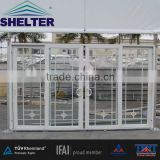 Amazing apprearance aluminum frame sliding door event marquee hall with fire resistant for exhibition