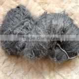 100%nylon fancy feather yarn dyed for scarf/sweater/knitting