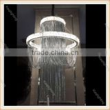Zhongshan Factory direct Romantic Water fall wedding modern table centerpieces crystal ceiling chandelier led pendant lighting