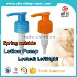 Discharger 2.0ml plastic screw lotion pump and dipenser pump for soap lotion pump bottle in blue ribbed closure