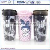 10oz 280ml Insulated Double Wall Plastic Coffee Tumbler Starbucks cup with paper insert pp travel mug                                                                         Quality Choice