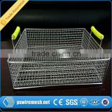 Sliding clothes storage wire mesh basket,stainless steel metal wire basket