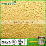 Golden texture effect water-based metallic brilliant paint