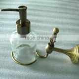 antique bronze elegant brass twisted wall mounted soap dispenser liquid soap bottle bathroom accessories