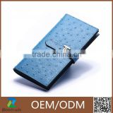 2015 New arrival factory leather wholesale women money carbon fiber wallet