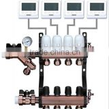 9 Ports High accuracy Brass Valve Cartridge for Floor Heating Manifold won't Cause any Leak 1''
