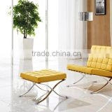 Modern Lobby Sofa Chair, Modern Style Leather Sofa, Barcelona Chair with Ottoman SF-505
