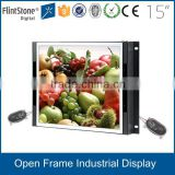 "15""--32""-55"" Frameless flexible embedded LCD monitor,signal input raspberry pi linux vending machine lcd advertising screen"
