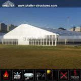 25X100m Durable giant glass door dome tents house shelter curved shaped marquee for wedding party