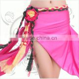2016 New arrivals belly dance costume sexy colors flower belly dance belt for women belly dance hip scarf on sale