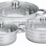6pcs stainless steel stock pot,low pot,large pot                                                                         Quality Choice