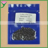 bulk stock 1.4mm small round cubic zirconia beads prices black diamond
