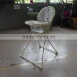 Compact and portable folding baby high chair