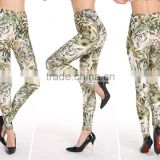 sublimation printed keep warm nude lady cotton sports brand name leggings
