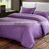 Plain cotton hotel design bedding set and duvet