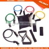 Gymnastic fitness latex rubber resistance bands handles