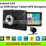 Car DVR Dual Camera Lens + Wifi + Android 4.0 Smart Tablet + GPS Navigator Full HD 1080P 5.0'' LCD video Recorder Dash Cam