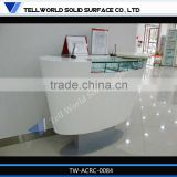 TW corian small white fashionable high end beauty led salon reception desk/counter