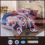 branded bed sheet reactive printed cotton for home decoration