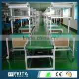 Aluminum Type screw Belt Conveyor system independent Working Tables PVC Conveyor Belting