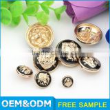 custom made clothing sliver brass buttons
