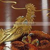Luxury and High quality japanese temple bell Dragon Makie Lacquer Orin Pure Gold at cost-effective , small lot order available