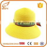Cheap summer custom wholesale peru dyes for yellow straw hats                                                                                                         Supplier's Choice