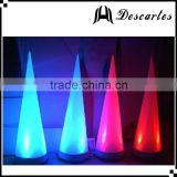 Halloween/christmas inflatable twisted LED spike cone/wedding deocrative lighting pillars for sale