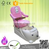Pink and white salon chair for kid pedicure spa chair