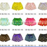 New Hot Sell!! Baby hot stamping gold point shorts Hot stamping big bowknot hair band combination shorts