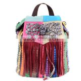 Fashion Punk Tassel Fringe Women National Wind Handbag Messenger Shoulder Bag Canvas Bag