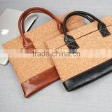 SIKAI patent 100% Oak Cork bag for MacBook Sleeve Cork pouch bag Laptop handbag Leather briefcase Cork bag Cork case Wooden bag