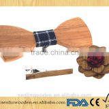 Best price wooden color fence design brass suit cufflinks wood bow ties and wooden flower pins