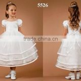 Girls silk lace white wholesale christening gowns