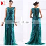 Fancy Embroidery Appliqued Beaded Sexy Sleeveless Charming Classy Lady Prom Dresses